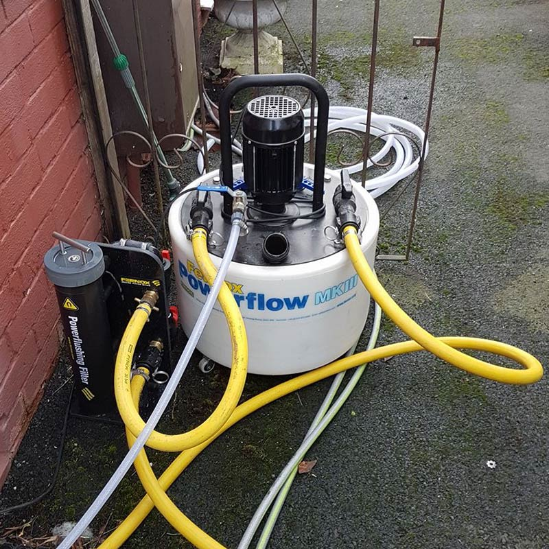 Central Heating System Power Flushing