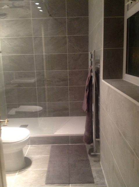 Heater towel rail fitted